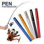 Portable Fishing Rod Pen Mini with Spinning Fishing Reel Lines Combos Travel Set