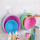WashBasin Hanging Powerful Suction Cup Hooks Storage Towel Rack Hanger Bathroom