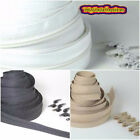 1,5,10 & 25 Continuous zip cushion zipping Beige Black White upholstery crft