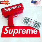 Brand New Supreme SS17 Red Box Logo Cash Cannon Money Gun + 100 Bills