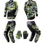 ONeal Element Attack motocross MX dirtbike gear - Jersey Pants Gloves Combo