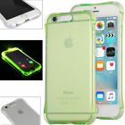 LED Flashing Slim Case Shockproof TPU Case For iPhone 5 6 7 Plus Samsung Galaxy