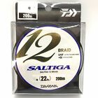 DAIWA SALTIGA 12 BRAID 200m Super Braided Line Select LB Free Shipping