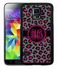 MONOGRAMMED RUBBER CASE FOR SAMSUNG NOTE 5 4 3PINK BLACK GRAY LEOPARD
