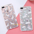 For Apple iPhone 6 6s 7 Plus Ultra-thin Clear Silicone Unicorn Phone Case Cover