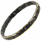 New Ladies Titanium Magnetic Bracelet Black/Gold Bali Rare Earth Magnets Healing