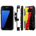 For Samsung Galaxy [S7] Armor Case [Kickstand] [Holster] [Screen Protector] - G