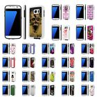 For Samsung Galaxy [S7] Shock Absorbent Dual Armor Case [Screen Guard]Design [F]