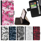 DIGITIAL CAMO CAMOUFLAGE PATTERN WALLET CASE COVER FOR SAMSUNG GALAXY S7