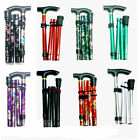 New Aluminium Folding Walking Stick Light Weight Support Aid Easy Adjust Pole