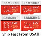 SAMSUNG EVO Plus 32GB 64GB 128GB 256GB Micro SD for Galaxy S9 S9+ S8 S8 Note Lot