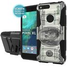 For Google [Pixel XL] Defender Armor Case Holster Kickstand Screen Protector - I