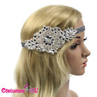 1920s Headband Ladies 20s Silver Bridal Great Gatsby Flapper Headpiece Gangster