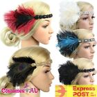 1920s Headband Feather 20s 20's Bridal Great Gatsby Flapper Headpiece Gangster