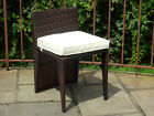 Patio Outdoor Garden Deck Wicker Dining Side Chair. 3 Colors