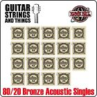 Ernie Ball Earthwood 80/20 Bronze Acoustic Guitar WOUND SINGLE Strings