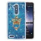 For iPhone8/ZTE - Crown Stent Glitter Bling Flowing Liquid Star Clear Hard Case