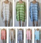 LADIES casual Tie Dye Top Dress Open Sleeve OSFA Plus Larger Size 16 18 20 22