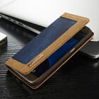 Shockproof Canvas Leather Wallet Flip Case Cover For iPhone 7 Samsung S7 Edge S6