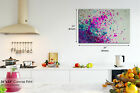 AB1405 pink purple blue drops Abstract Wall Art Picture Large Canvas Print