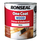 Ronseal One Coat Wood Primer and Undercoat - 250ml, 750ml & 2.5L