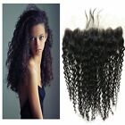 """New 13""""X4"""" Pre Plucked Kinky Curly Ear To Ear Lace Frontal Closure  Baby Hair"""