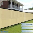 Customize 4' FT Tall Beige Privacy Screen Fence Windscreen Mesh Shade Cover