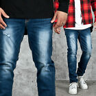 NewStylish mens bottoms pants Cool washed vintage blue denim jeans