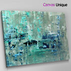 AB1465 teal grey paint modern Abstract Wall Art Picture Large Canvas Print