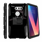For LG V30 (2017) Holster Belt Clip Case Dual Layer Cover with Kickstand
