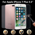 UK 9H Tempered Glass Film Screen Front + Back Protector For iPhone 7 Plus 5.5''