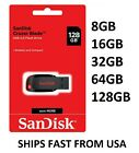 Sandisk 8GB 16GB 32GB 64GB 128GB Cruzer Blade Flash Drive Memory Stick USB Lot