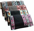 "Внешний вид - Showman Western SADDLE PAD 36"" x 34"" x 1""100% Woven Wool Top & Fleece Bottom"