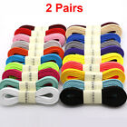 """THICK FLAT FAT SHOE LACES 2/5"""" Wide Shoelaces All Shoe Types Trainer Boot Shoes"""
