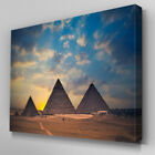 SC247 Egypy Pyramids Exotic Scenic Wall Art Picture Large Canvas Print