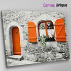 SC822 vintage photo window orange Scenic Wall Art Picture Large Canvas Print
