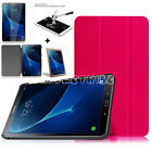 New Tempered Glass + Samsung Galaxy Tab A 10.1 Inch T-585 T-580 Smart Case Cover
