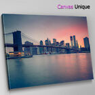 SC326 New York Brooklyn Bridge Scenic Wall Art Picture Large Canvas Print