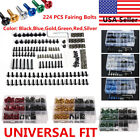 223pc Motorcycle Sportbike Windscreen Fairing Bolts Kit Fastener Clip Screws USA $19.99 USD on eBay
