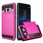 Shockproof Wallet Credit Card Holder Protective Case Cover Fits Samsung Galaxy