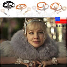 1920s Flapper Great Gatsby Pearl Headpiece Bridal Headband Bracelet Ring Sets