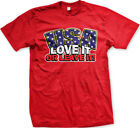USA Love It Or Leave It America United States Pride Country Born Men's T-Shirt image