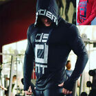 Mens Gyms Sweatshirts Hoodies Bodybuilding Streetwear Fitness Workout Tracksuit