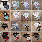 torta baby shower pañales - Newborn Infant Kid Baby Boy Girl Romper Bodysuit Jumpsuit Clothes Outfits Lots A