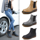 New Womens Flat Low Heel Chelsea Boots Ladies Classic Sport Ankle Shoes UK 3-8