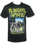 Authentic MUNICIPAL WASTE Band The Art of Partying T-Shirt Black S-2XL NEW image