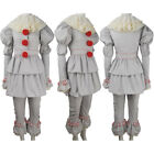 Women It 2017 film Pennywise cosplay halloween costume clown villain outfit toy