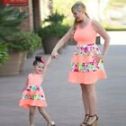 Mother And Daughter Matching Party Dresses Women Girls Mini Dress Family Clothes