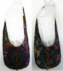 Unisex Tie Dye Thai Cross-Body Sling Shoulder Cotton Bag ZIP Closure Boho Hippie