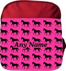 PERSONALISED PONY HORSE PRINT KIDS CHILDS SCHOOL RUCKSACK BACKPACK RED PINK BLUE